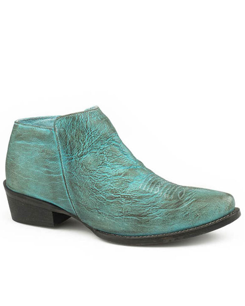Roper Women's Vintage Turquoise Simple Western Booties - Snip Toe, Blue, hi-res