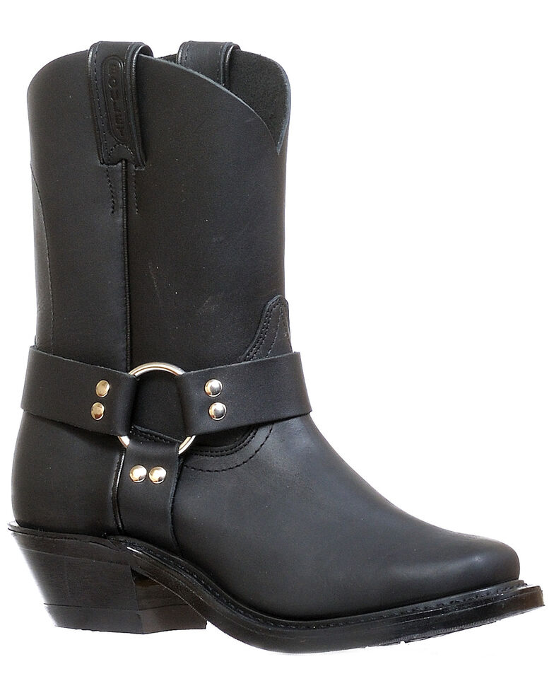 Boulet Women's Motorcycle Boots - Narrow Square Toe, Black, hi-res