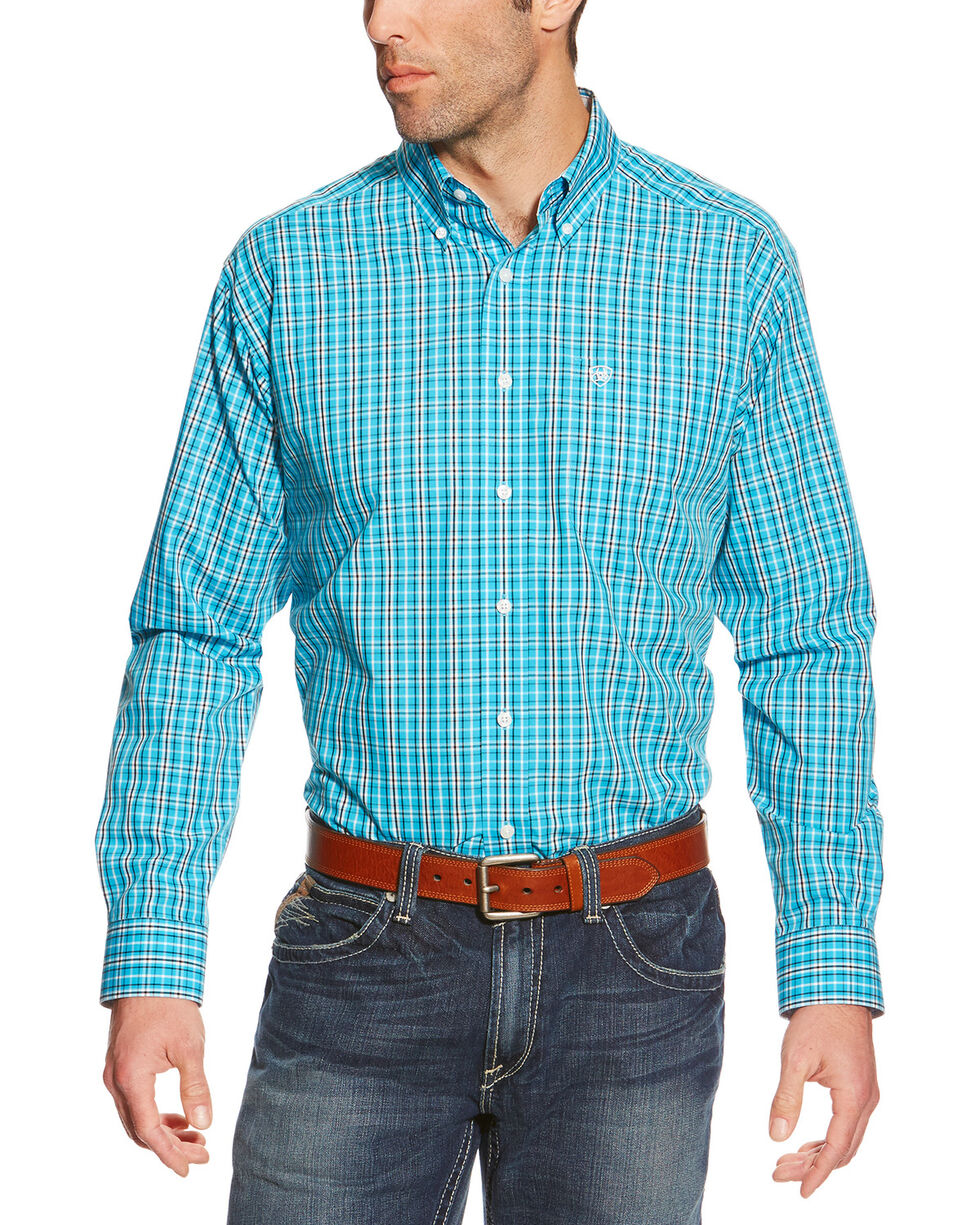 Ariat Men's Turquoise WF Zander Long Sleeve Shirt , Turquoise, hi-res