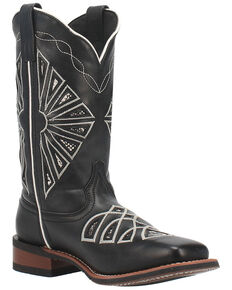 Laredo Women's Kite Days Western Boots - Wide Square Toe, Black, hi-res