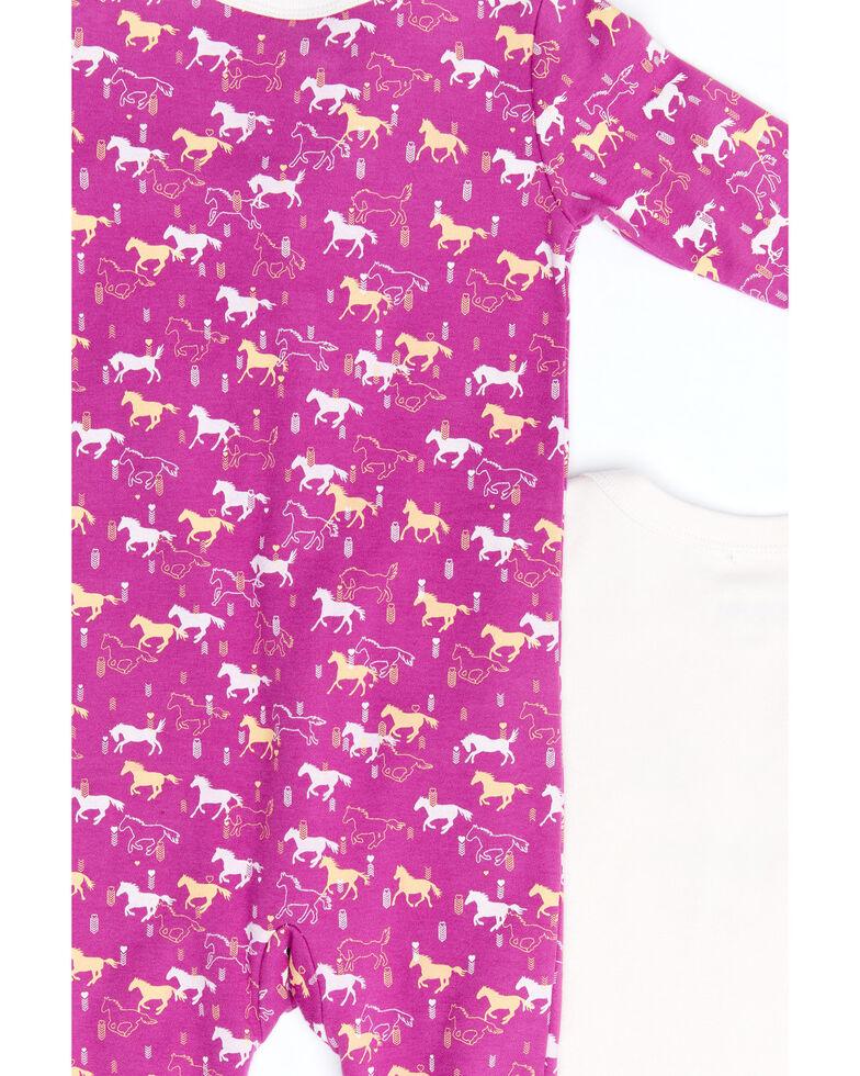 Shyanne Infant Girls' Pink Giddy Up Knit Onesie Set , Fuscia, hi-res