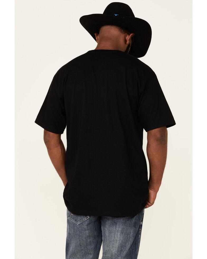 Cinch Men's Black Bar Logo Graphic Short Sleeve T-Shirt , Black, hi-res