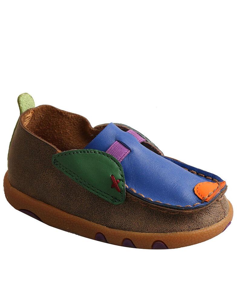 Twisted X Infant Boys' Bomber Driving Shoes - Moc Toe, Multi, hi-res