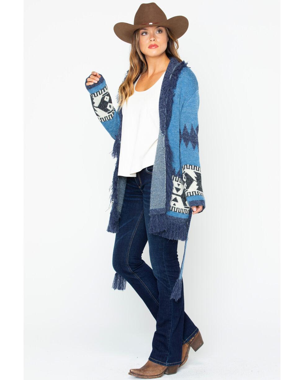 Wrangler Women's Shawl Cardigan, Blue, hi-res