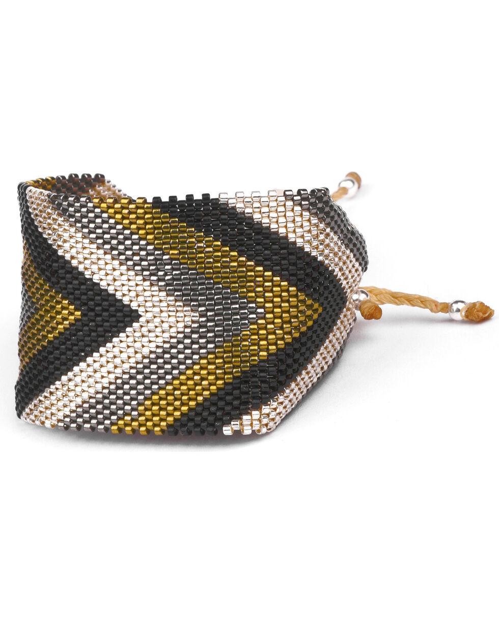 Kutula Kiss Women's Black Large Sing Bling Bracelet , Black, hi-res