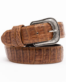 Cody James Men's Brown Hornback Caiman Exotic Belt , Brown, hi-res