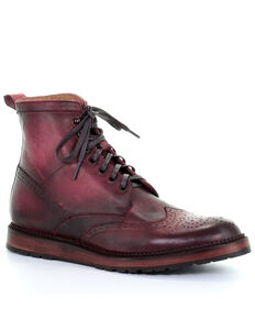 Corral Men's Wine Lace-Up Western Boots - Round Toe, Wine, hi-res