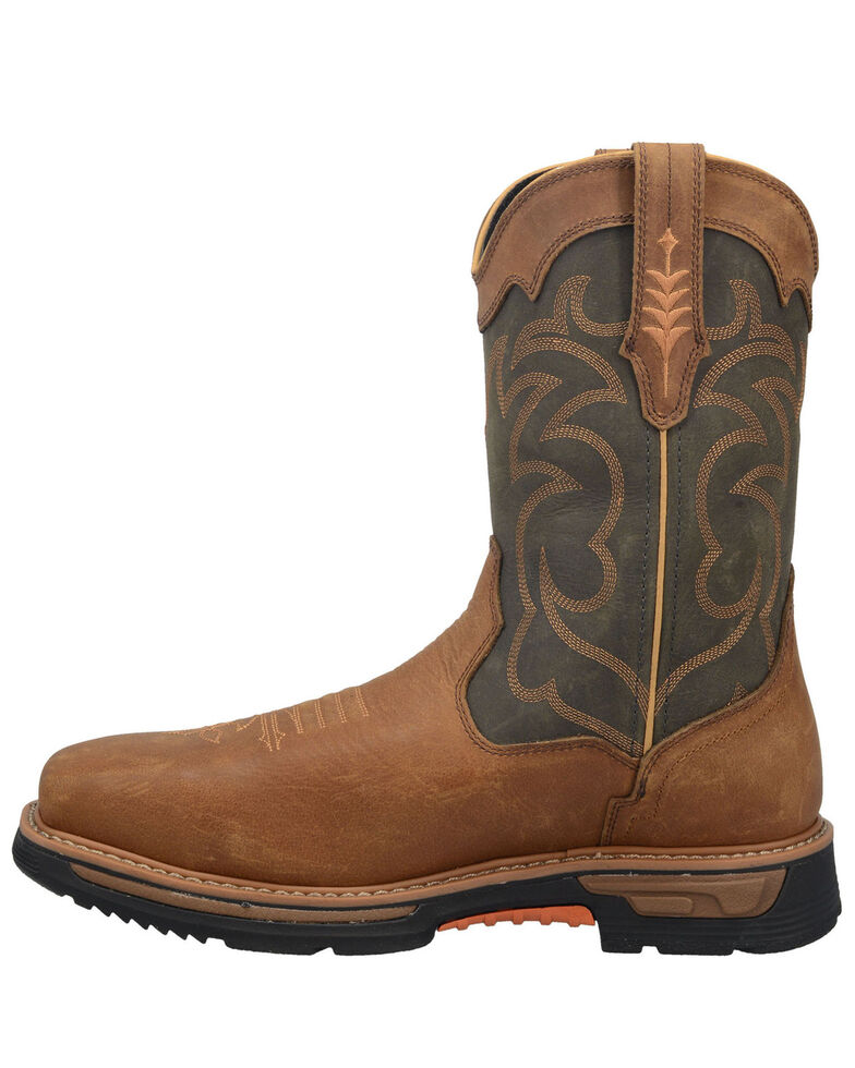 Dan Post Men's Storm Tide Western Work Boots - Composite Toe , Tan, hi-res
