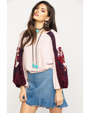 Free People Women's Casual Clash Top, Pink, hi-res