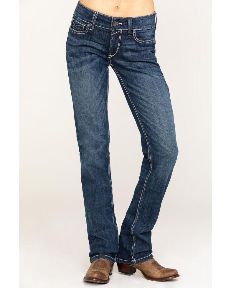 Ariat Men's R.E.A.L. Dresden Willow 3D Mid Straight Jeans , Blue, hi-res