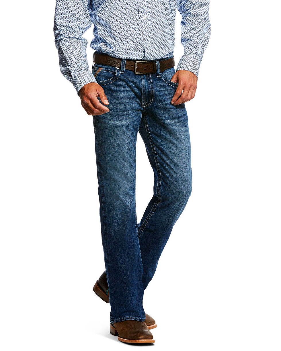 Ariat Men's Truckee Summit Bootcut Jeans, Blue, hi-res