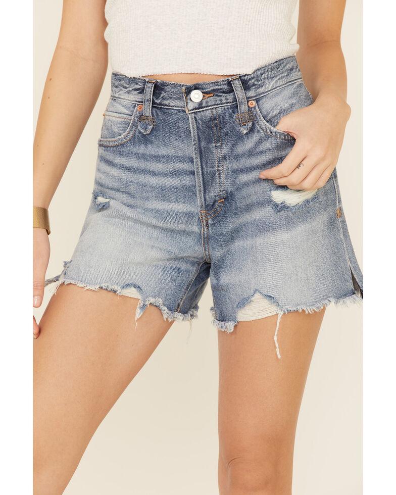 Free People Women's Makai Cutoff Shorts, Blue, hi-res