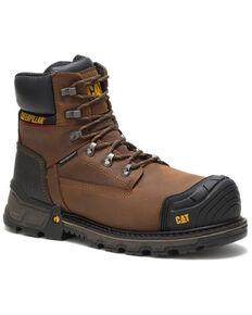 Caterpillar Men's Excavator Waterproof Work Boots - Composite Toe, Dark Brown, hi-res