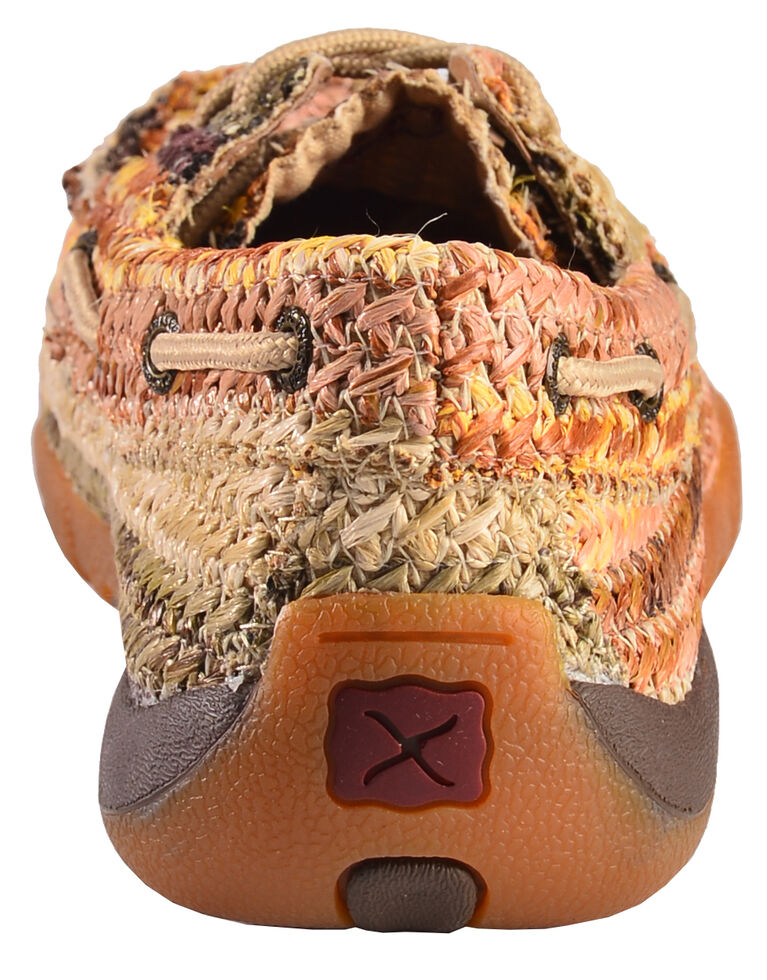 Twisted X Women's Earth Tone Weave Driving Shoes - Moc Toe , Multi, hi-res