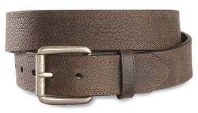 Ariat Brown Triple Stitch Oiled Rowdy Belt - Reg & Big, Brown, hi-res