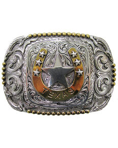Cody James Men's Texas Star Regional Buckle, Silver, hi-res