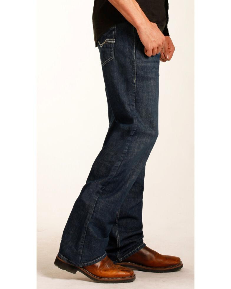 Rock & Roll Cowboy Men's Double Barrel Relaxed Fit Flame Resistant Bootcut Jeans, Blue, hi-res
