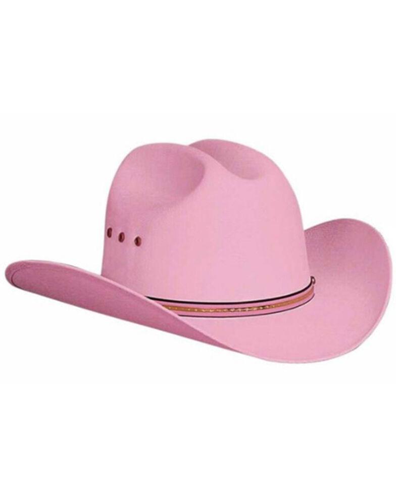Bullhide Kids Pink Linen Felt Western Hat , Pink, hi-res