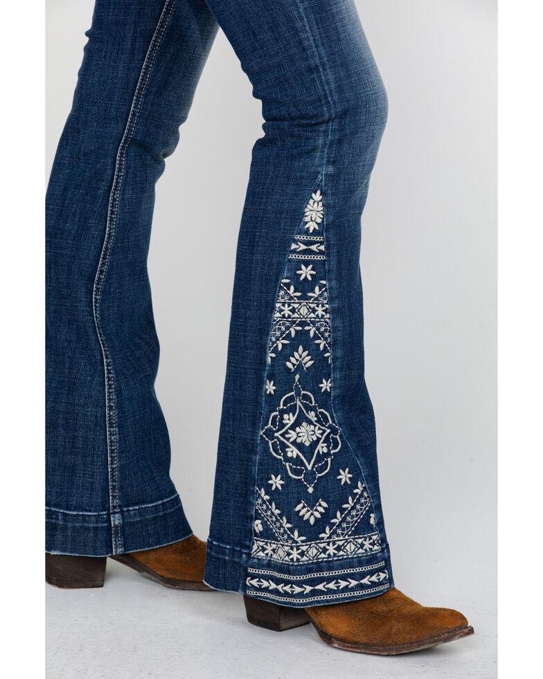 Rock & Roll Cowgirl Women's Basic Pocket Applique Denim Trousers , Blue, hi-res