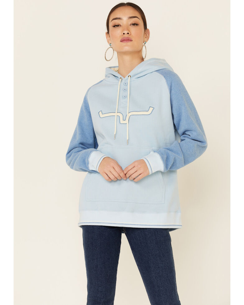 Kimes Ranch Women's Vintage Blue Amigo Logo Hoodie , Blue, hi-res