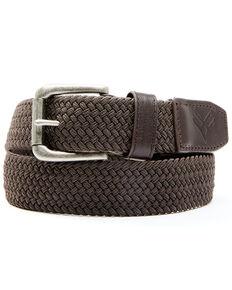 Hawx Men's Brown Web Work Belt, Brown, hi-res