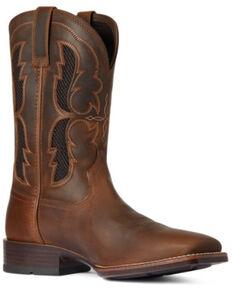 Ariat Men's Distressed Brown Dash Ventek Ultra Performance Western Boot - Wide Square Toe, Brown, hi-res