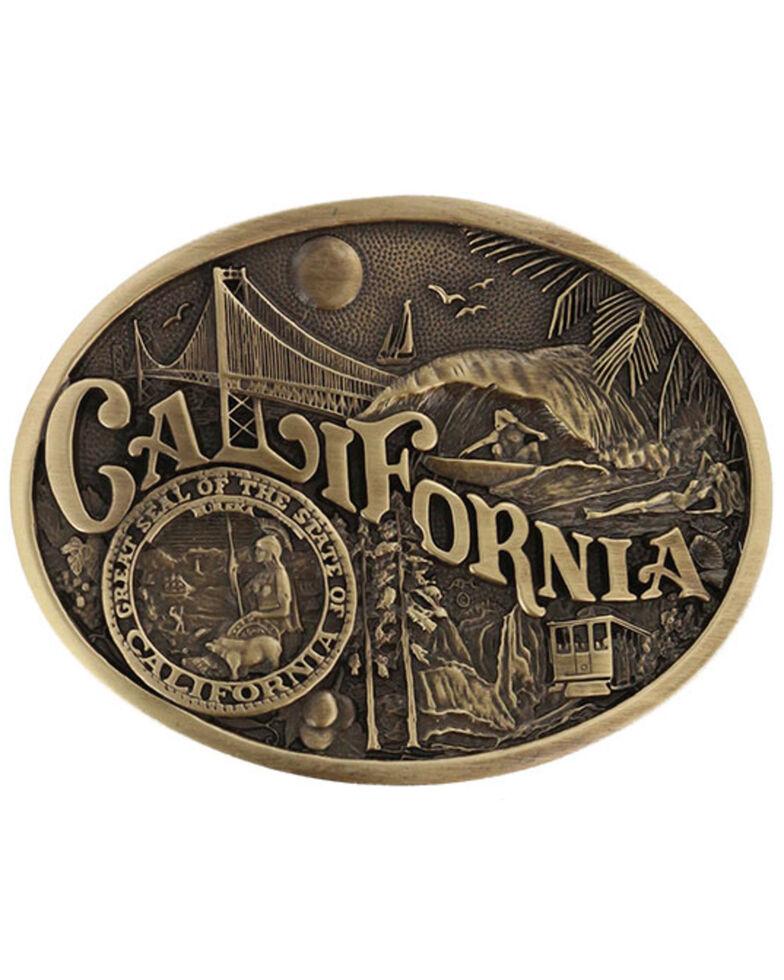 Montana Silversmiths California State Heritage Attitude Belt Buckle, Gold, hi-res