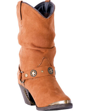 Dingo Women's Copper Camilla Short Slouch Boots - Pointed Toe , Rust Copper, hi-res