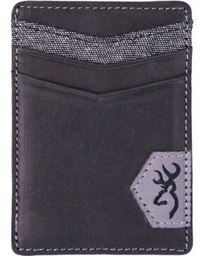 Browning Men's Black Leather Money Clip Wallet, Black, hi-res