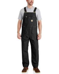 Carhartt Men's Black Duck Bib Work Overalls  - Big , Black, hi-res