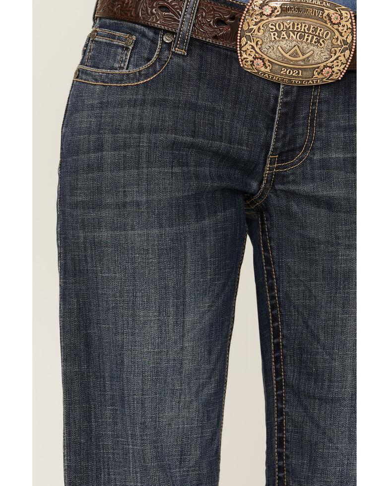 Stetson Women's 214 Dark Wash City Trousers, Blue, hi-res