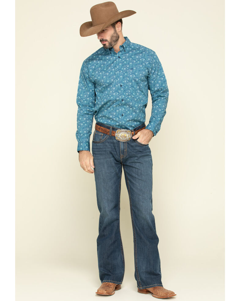 Ariat Men's Ridgecrest Paisley Print Long Sleeve Western Shirt , Multi, hi-res