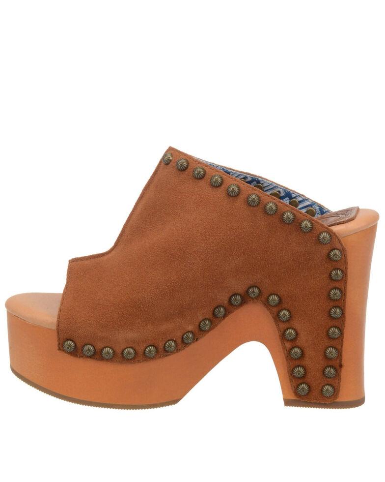 Dingo Women's Peace N' Love Fashion Clogs - Open Round Toe, Brown, hi-res