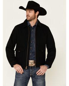 Pendleton Men's Solid Black Canvas Zip-Front Jacket , Black, hi-res