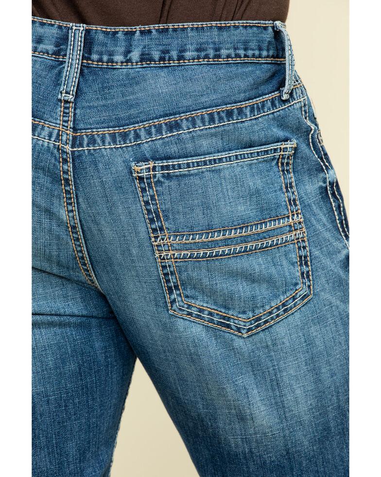 Cinch Men's Ian Light Stone Performance Slim Bootcut Jeans , Indigo, hi-res
