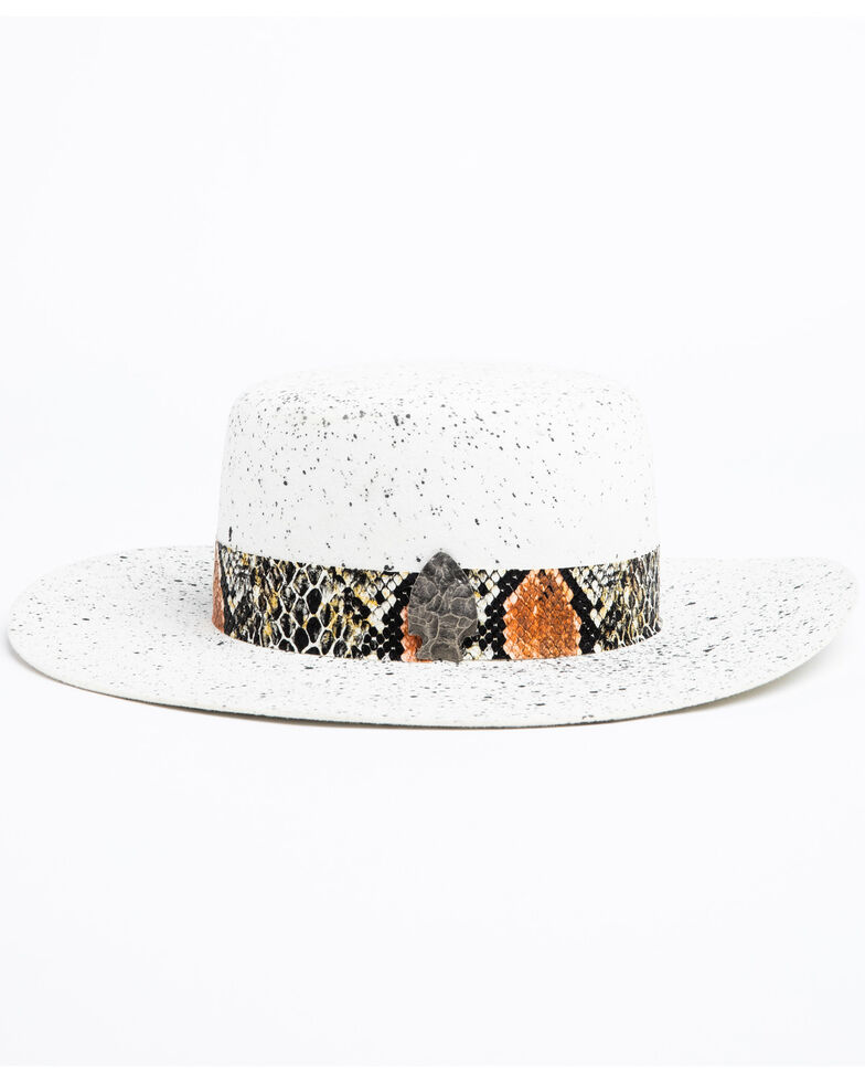 Atwood Hat Co. Women's 5X White Chaparral Wool Western Hat, White, hi-res