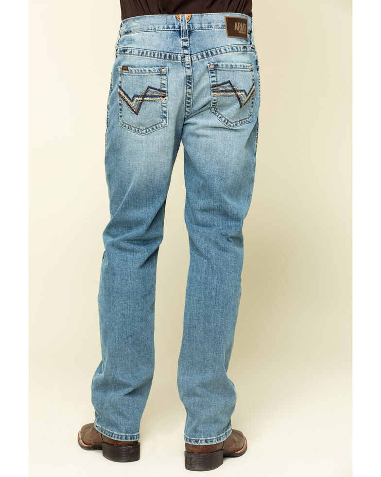Ariat Men's M2 Orleans Light Stretch Stackable Relaxed Bootcut Jeans , Blue, hi-res