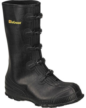 LaCrosse Men's Z-Series Overshoe Rubber Boots - Round Toe , Black, hi-res
