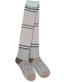 World's Softest Women's Weekend Gallery Knee-High Socks, Lt Brown, hi-res