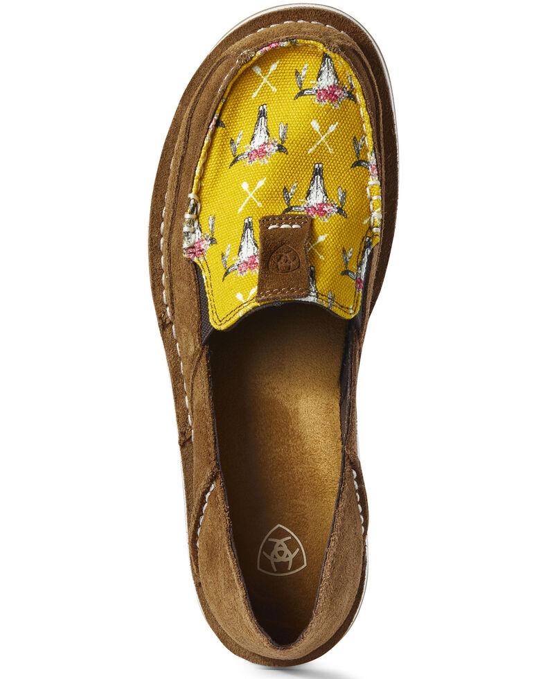 Ariat Women's Steerhead Cruiser Shoes - Moc Toe, Mustard, hi-res