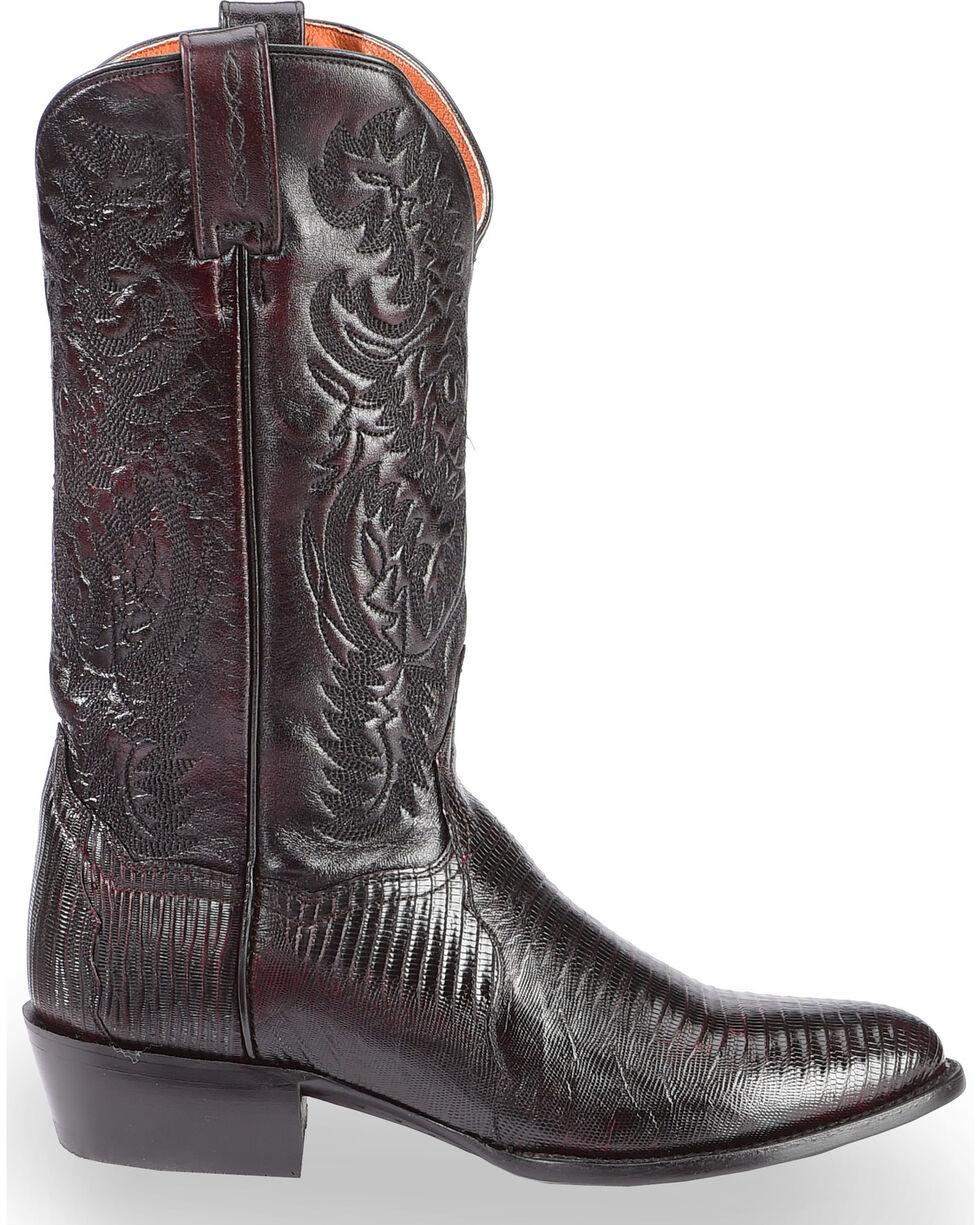 Dan Post Raleigh Cherry Lizard Cowboy Boots - Medium Toe  , Black Cherry, hi-res