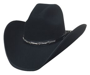 Bullhide Big Shot 8X Fur Blend Cowboy Hat, Black, hi-res