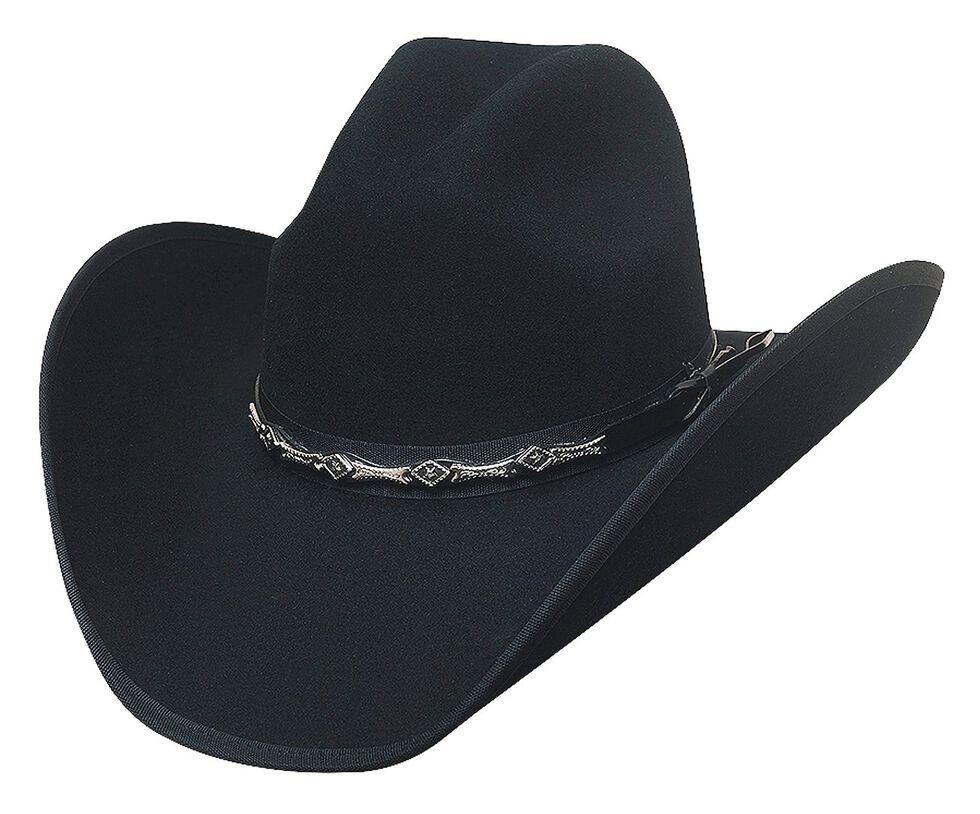 Bullhide Big Shot 8X Fur Blend Cowboy Hat, Black, hi-res