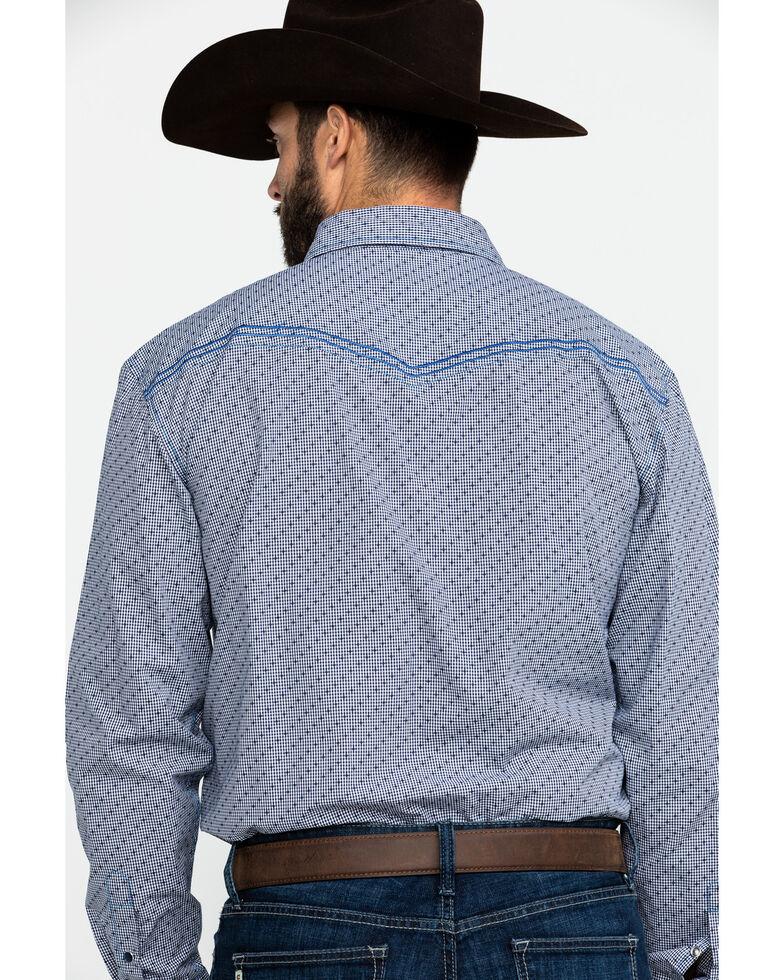Cowboy Hardware Men's Dobby Print Long Sleeve Western Shirt , Navy, hi-res