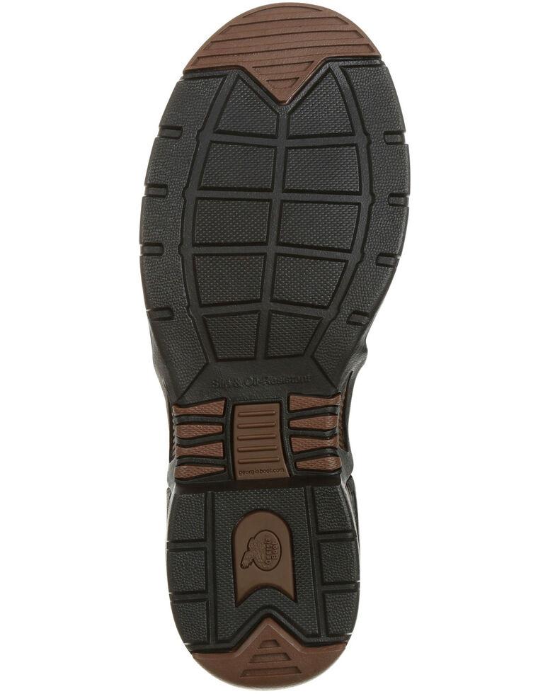 Georgia Boot Men's Chelsea Waterproof Work Boots - Moc Toe, Brown, hi-res