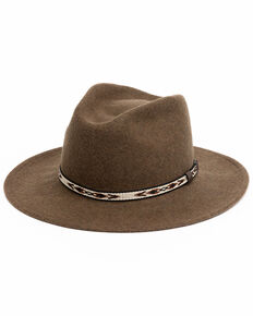 Cody James Men's Heather Loden Santa Fe Western Wool Hat , Olive, hi-res