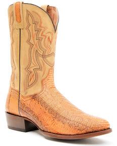 Dan Post Men's Exotic Snake Western Boots - Round Toe, Brown, hi-res