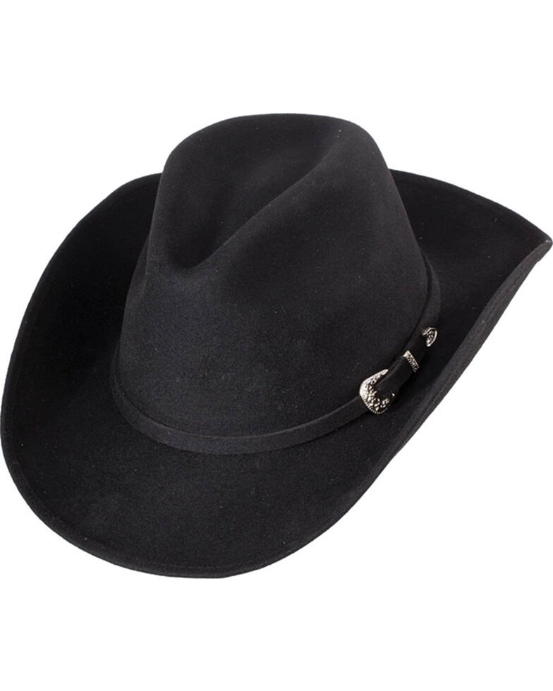 Western Express Men s Black Crushable Wool Felt Hat - Country Outfitter d1e50bab376