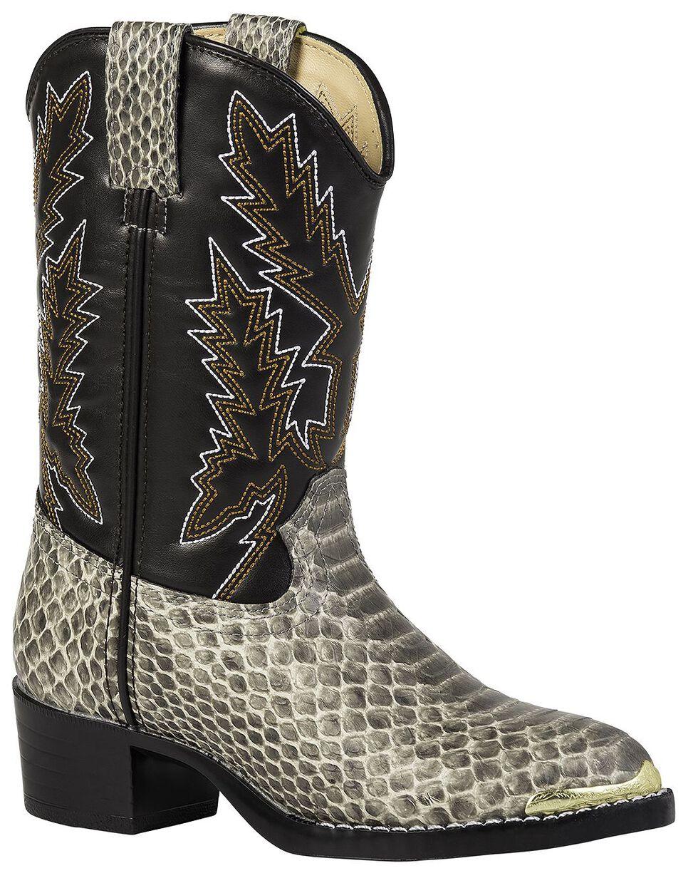 Durango Youth Girls' Snake Print Cowboy Boots, Snake Print, hi-res