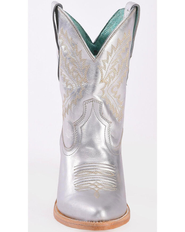 Corral Women's Silver Embroidered Boots - Pointed Toe, Silver, hi-res